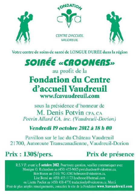 Soirée Crooners de la Fondation du centre d'accueil Vaudreuil 2012