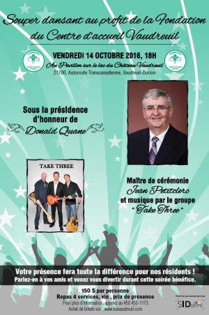 Souper dansant  Fondation du Centre d'accueil Vaudreuil - 14 octobre 2016