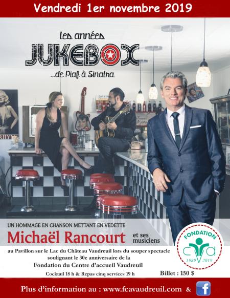 Les années JukeBox 1er novembre 2019  Fondation du Centre d'accueil Vaudreuil
