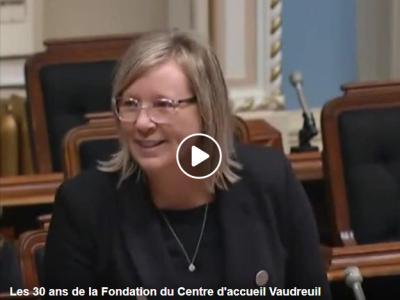 Marie- Claude Nichols Assemblée Nationale du Québec Députée de Vaudreuil
