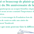 Message président d'honneur Michel Daoust