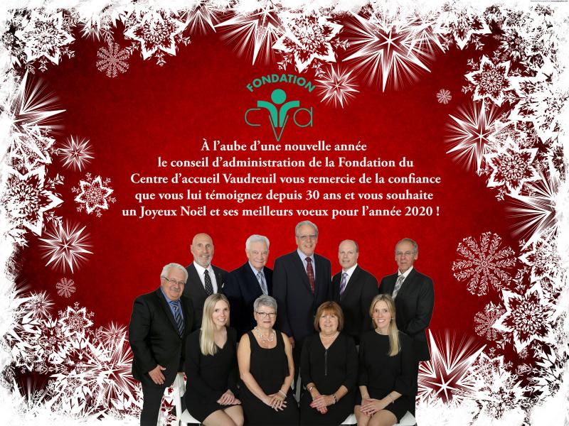 Joyeux Noël et Bonne Année 2020 - Fondation du Centre d'accueil Vaudreuil