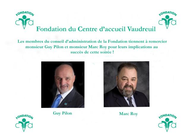 Remerciements M Guy Pilon et M Marc Roy nos présidents d'honneur 2017-1